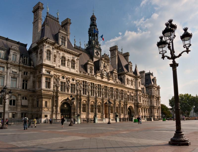 Hotel de ville de paris où se déroule la 19eme conférence des villes